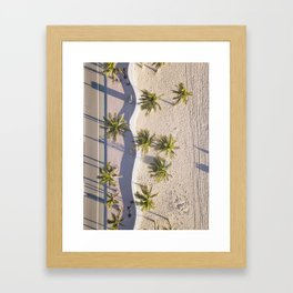 Fort Lauderdale from aerial point of view Framed Art Print