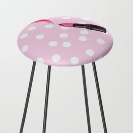 Pink Counter Stool