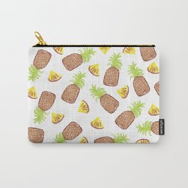 Hand Painted Watercolor Tropical Pineapples Carry-All Pouch