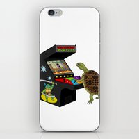 ninja turtle iPhone & iPod Skins featuring Arcade Ninja Turtle by Michowl