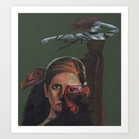 buffy the vampire slayer Art Prints featuring Buffy the Vampire Slayer by Marika Kuylman