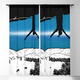 Rock Climbing New Zealand Blackout Curtain