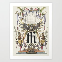 Guide for Constructing the Ligature ffi from Mira Calligraphiae Monumenta or The Model Book of Calli Art Print