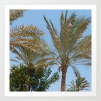 palm trees Art Prints featuring Palm Trees by MehrFarbeimLeben