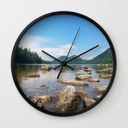 Jordan Pond in Acadia National Park, Maine Wall Clock