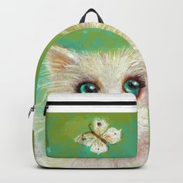 White Cat Backpack