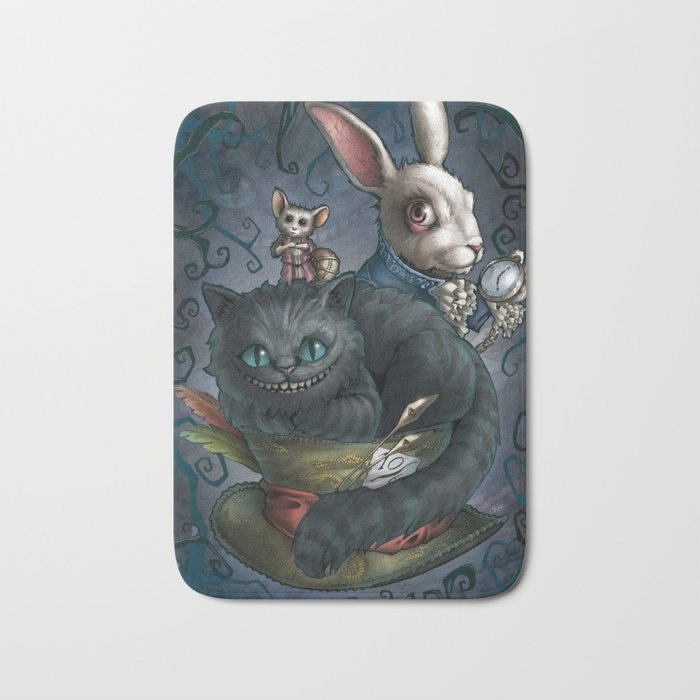 The Cheshire Cat and his friends Bath Mat