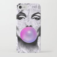 popart iPhone & iPod Cases featuring Marilyn Newspaper Headlines PopArt by cvrcak