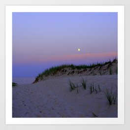 Nighttime at the Beach Art Print