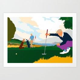 Golf In Ireland Art Print