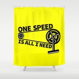 Single Speed Bike Shower Curtain