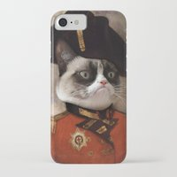 general iPhone & iPod Cases featuring Angry cat. Grumpy General Cat.  by UiNi