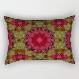 Crimson kaleidoscope. Wonderful design. Bright , juicy. Rectangular Pillow