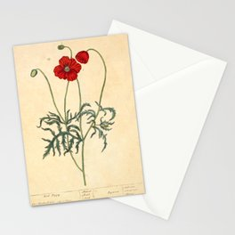 """Red Poppy by Elizabeth Blackwell from """"A Curious Herbal,"""" 1737 (benefits The Nature Conservancy) Stationery Cards"""