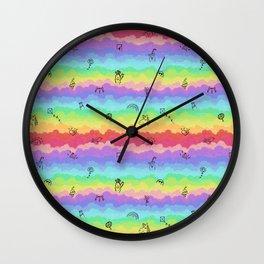Emoji cloudy day Wall Clock