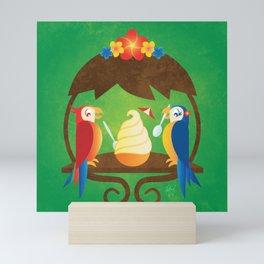 Tiki Birds Ice Cream Date Mini Art Print