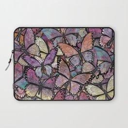 butterflies aflutter rosy pastels version Laptop Sleeve