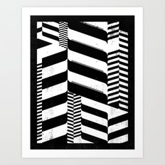 Black Interior & White Design Art Print