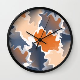 Funky shapes Falling Leaves Abstract  Wall Clock