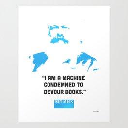 Karl Marx about books Art Print