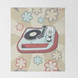 Retro Vinyl Throw Blanket