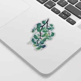 O Ginkgo (in Green) Sticker