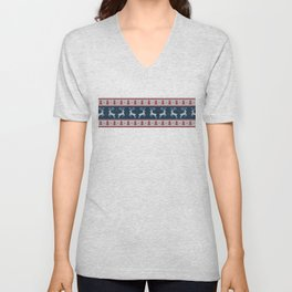 Deers with Trees Unisex V-Neck