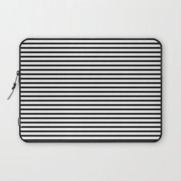 White Black Stripe Minimalist Laptop Sleeve