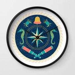 Nautical circle poster-2 Wall Clock