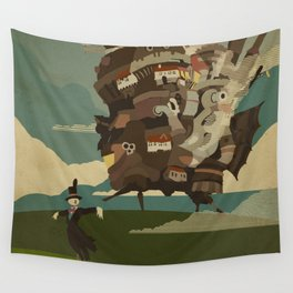 Moving Castle Wall Tapestry