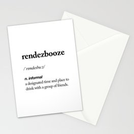 Rendezbooze black and white contemporary minimalism typography design home wall decor bedroom Stationery Cards