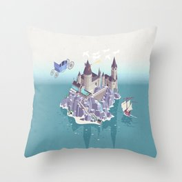 Hogwarts series (year 4: the Goblet of Fire) Throw Pillow