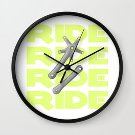 Bike Crankset Wall Clock