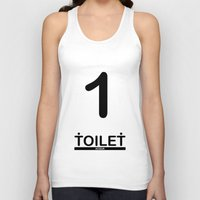 toilet Tank Tops featuring TOILET CLUB #1 by Toilet Club