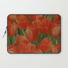 Red Tulips Field Laptop Sleeve