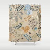 floral pattern Shower Curtains featuring Floral pattern by De Assuncao création