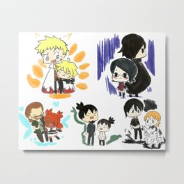 Father and Children (Naruto) Metal Print