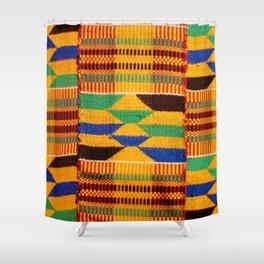 Genuine Ghanaian Kente Shower Curtain