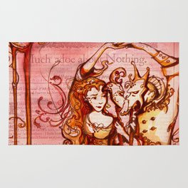 Much Ado About Nothing - Masquerade - Shakespeare Folio Illustration Rug