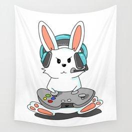 Gaming Bunny Gamer Rabit Headset Gamepad Gift Wall Tapestry
