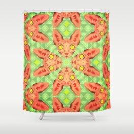 Sphynx Cat Pattern Shower Curtain