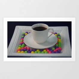 Coffee and candy Art Print