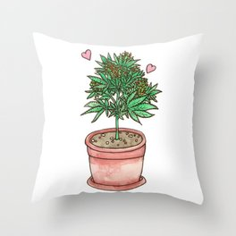 for the love of cannabis Throw Pillow