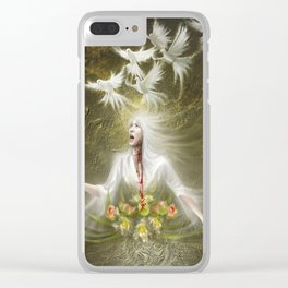 somewhere there's hope Clear iPhone Case