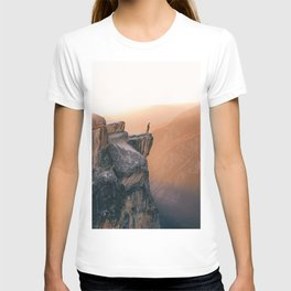 On the cliff, Yosemite T-shirt