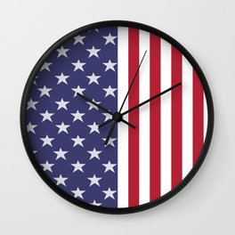 American Flag design Wall Clock