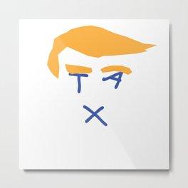 Donald Trump Tax Return Metal Print