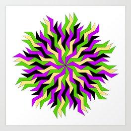 Lightning Wheel Art Print