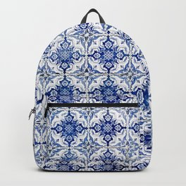 Weathered Traditional Blue Tiles Backpack