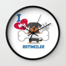 ROTTWEILER - I Love My ROTTWEILER Gift Wall Clock